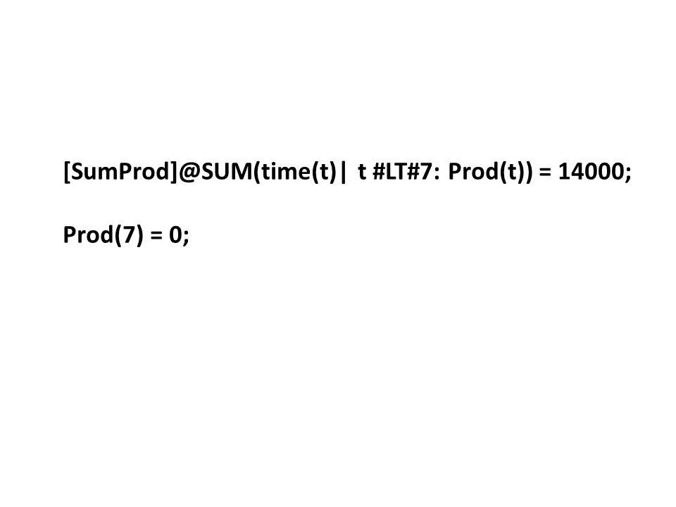 [SumProd]@SUM(time(t)| t #LT#7: Prod(t)) = 14000;